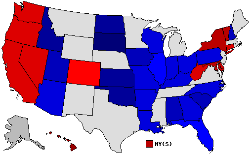 2010 National Map of General Election Results for Senator