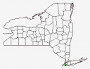 New York County Map Highlighting Kings County