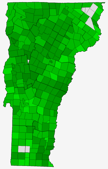 2012 Vermont US Senate General Election Map by Town