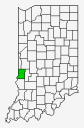 Indiana County Map Highlighting Vigo County