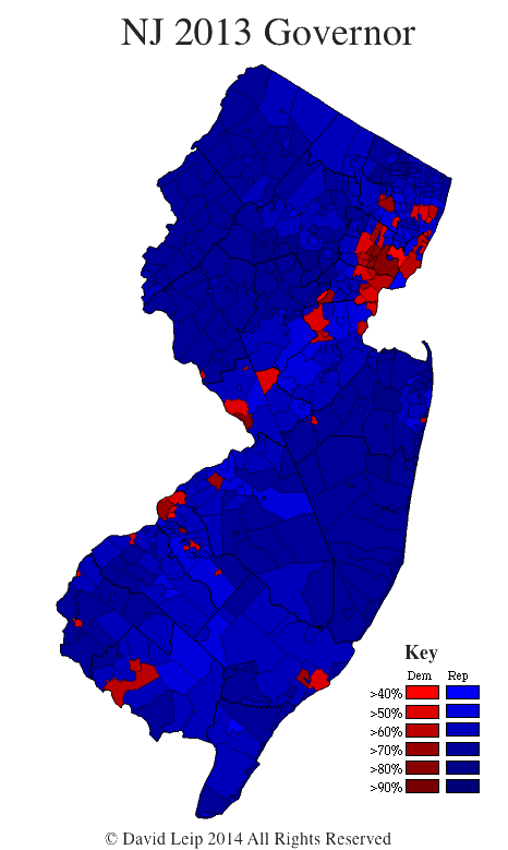New Jersey 2012 Election Map