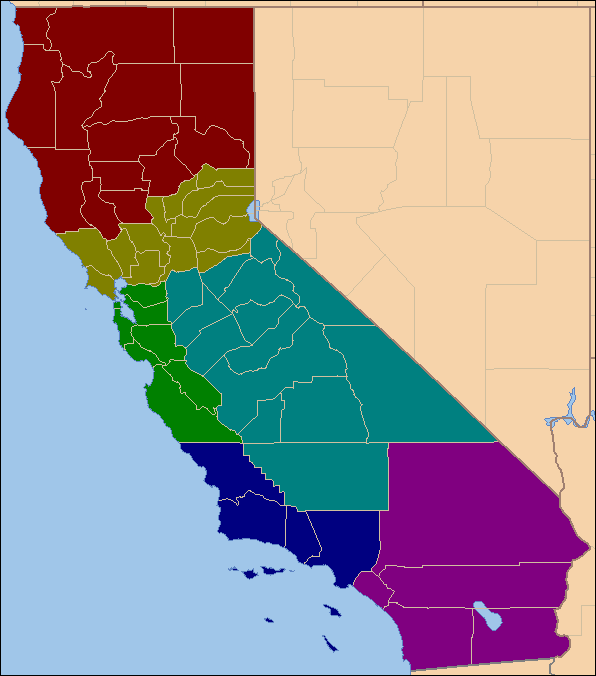 2012 Presidential Election With Six Californias  The