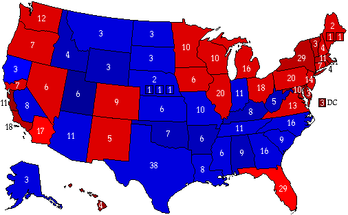 Six Californias Scenario 2012 Electoral Vote Map