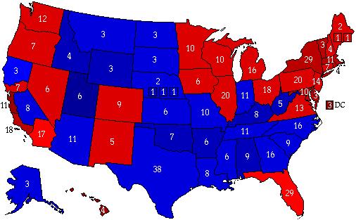 Six Californias Scenario 2012 Electoral Vote Map