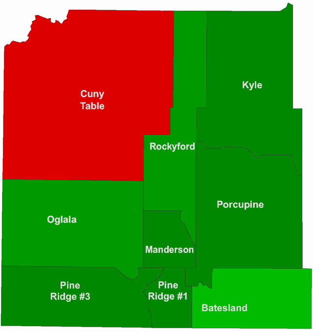 Shannon County Name Change Precinct Map